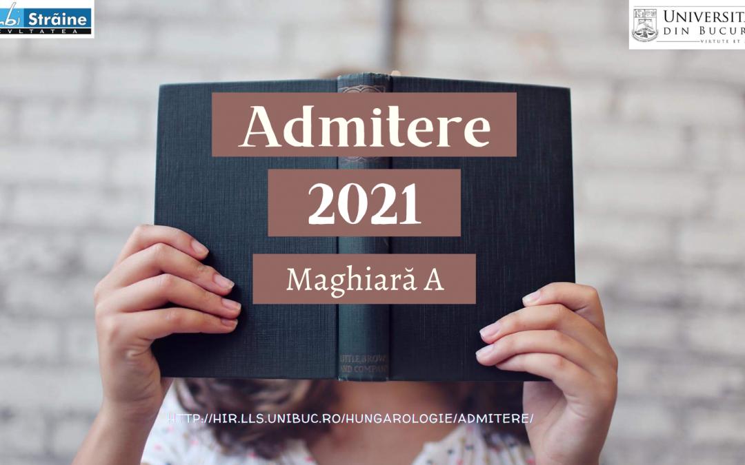 Admitere iulie 2021 – Maghiară A